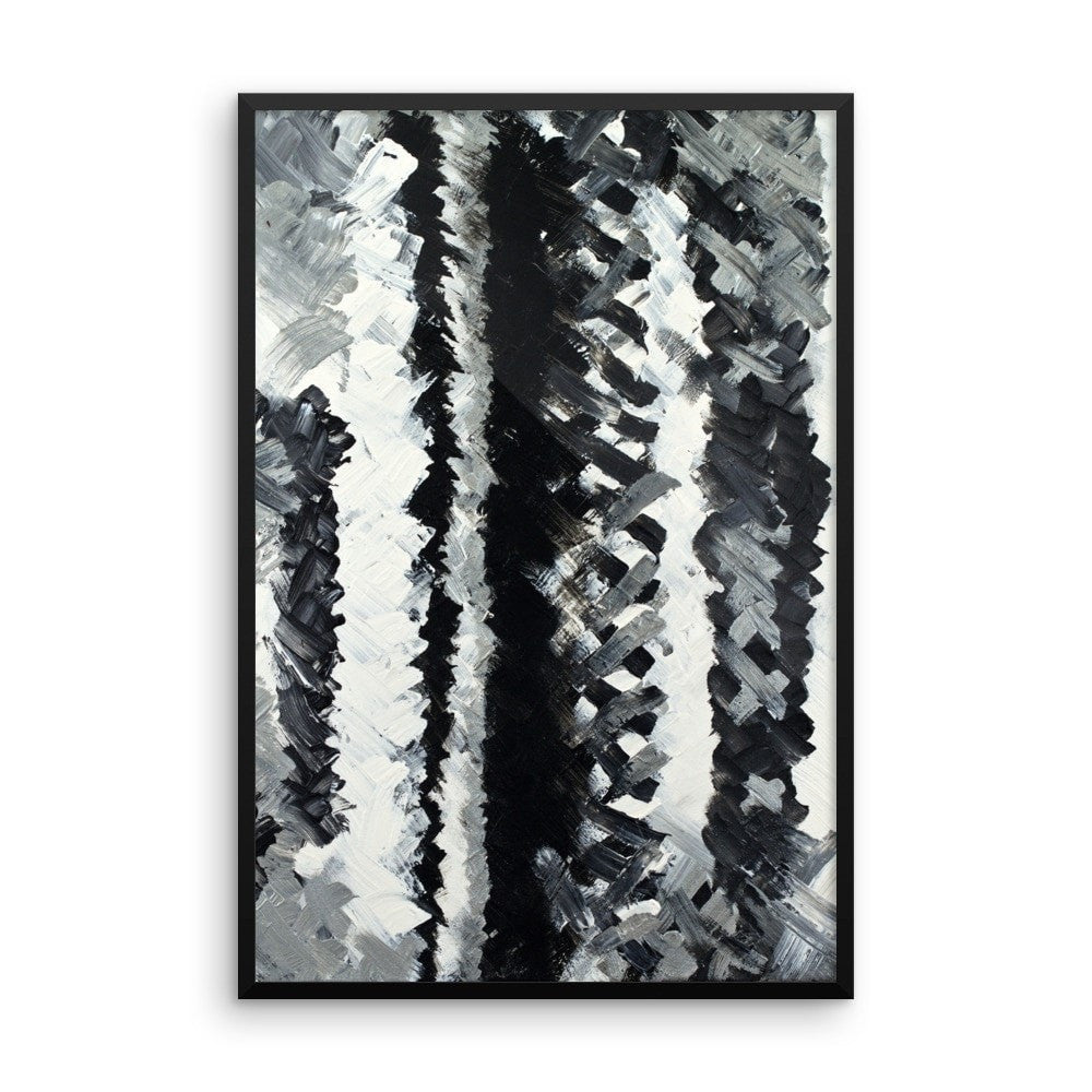 Up. Enhanced Matte Paper Framed Poster Abstract Deep