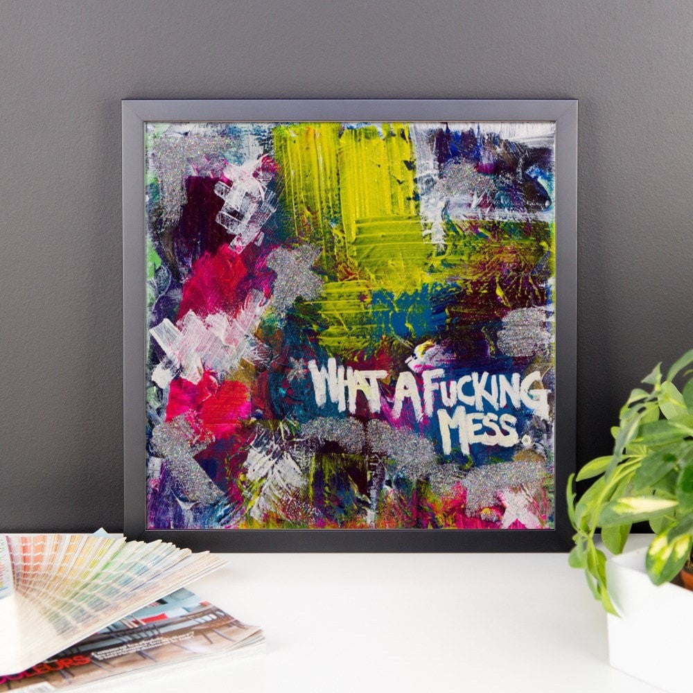 premium luster photo paper framed poster abstract deep