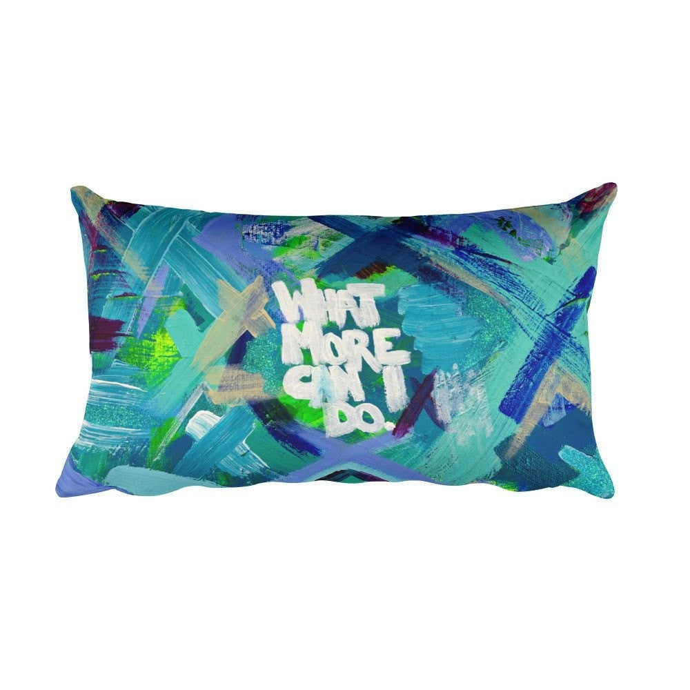 What More Can I Do. Rectangular Pillow Abstract Deep