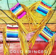 Handmade serape fringed purse