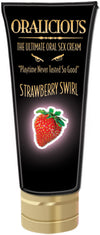 Oralicious the Ultimate Oral Sex Cream - Strawberry Swirl - 2 Fl. Oz.
