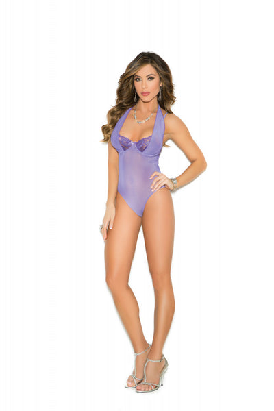Underwire Demi Cup Teddy - Purple - Extra Large