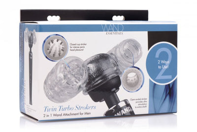 2 in 1 Male Wand Attachment - Clear