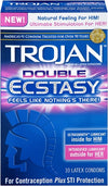 Trojan Double Ecstasy Lubricated Condoms - 10 Pack