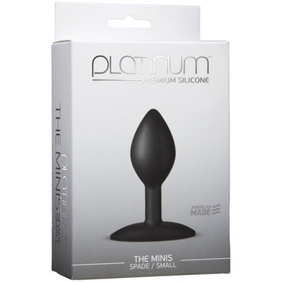 Platinum Premium Silicone - the Mini's - Spade Small - Black