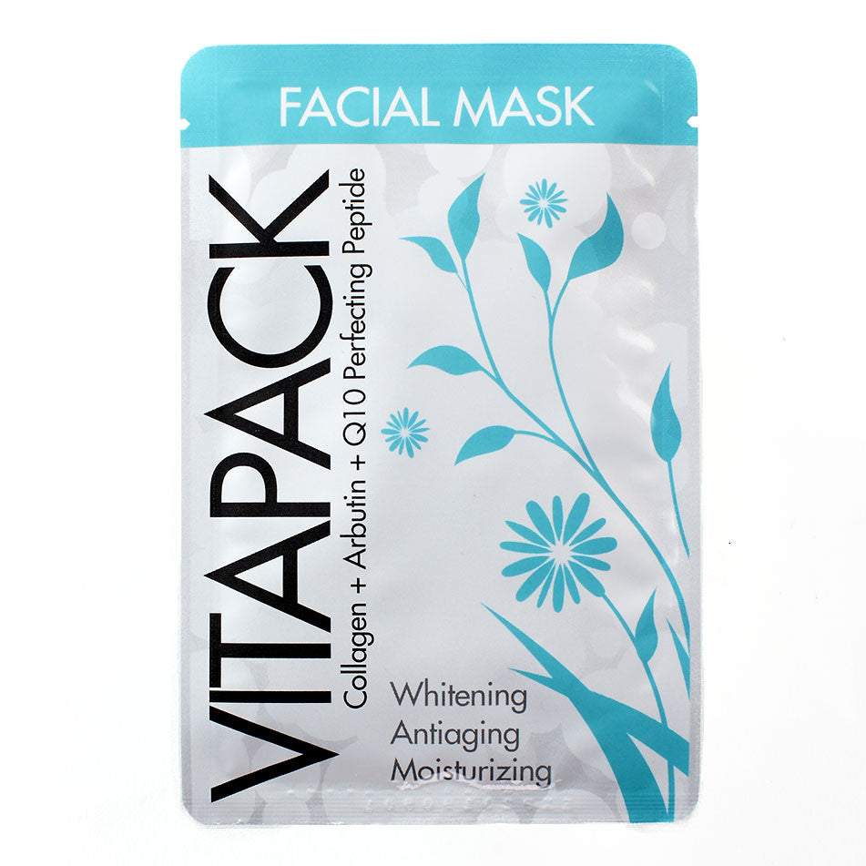 Vitapack Collagen + Arbutin + Q10 Perfecting Peptide Facial Mask