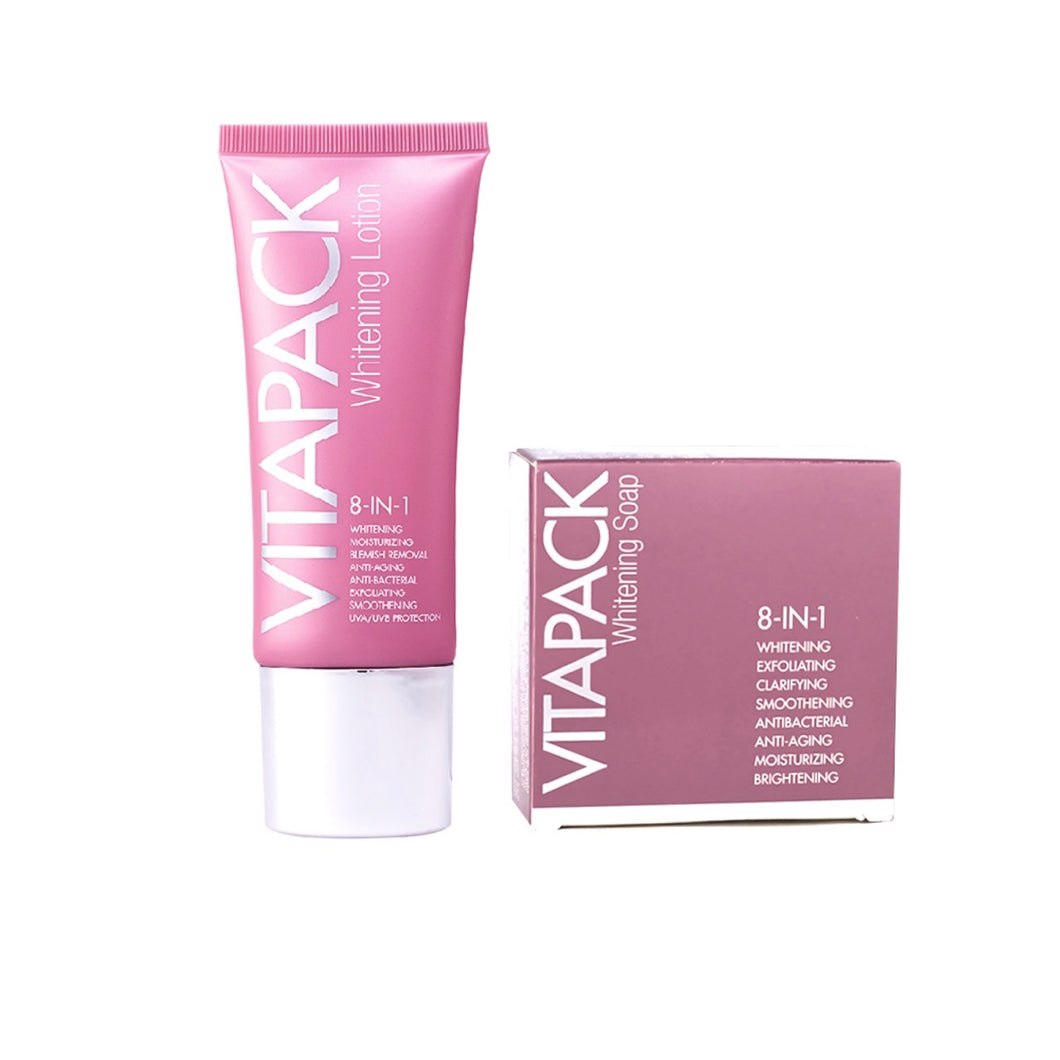 Vitapack 8-in-1 Whitening Soap and 8-in-1 Whitening Lotion