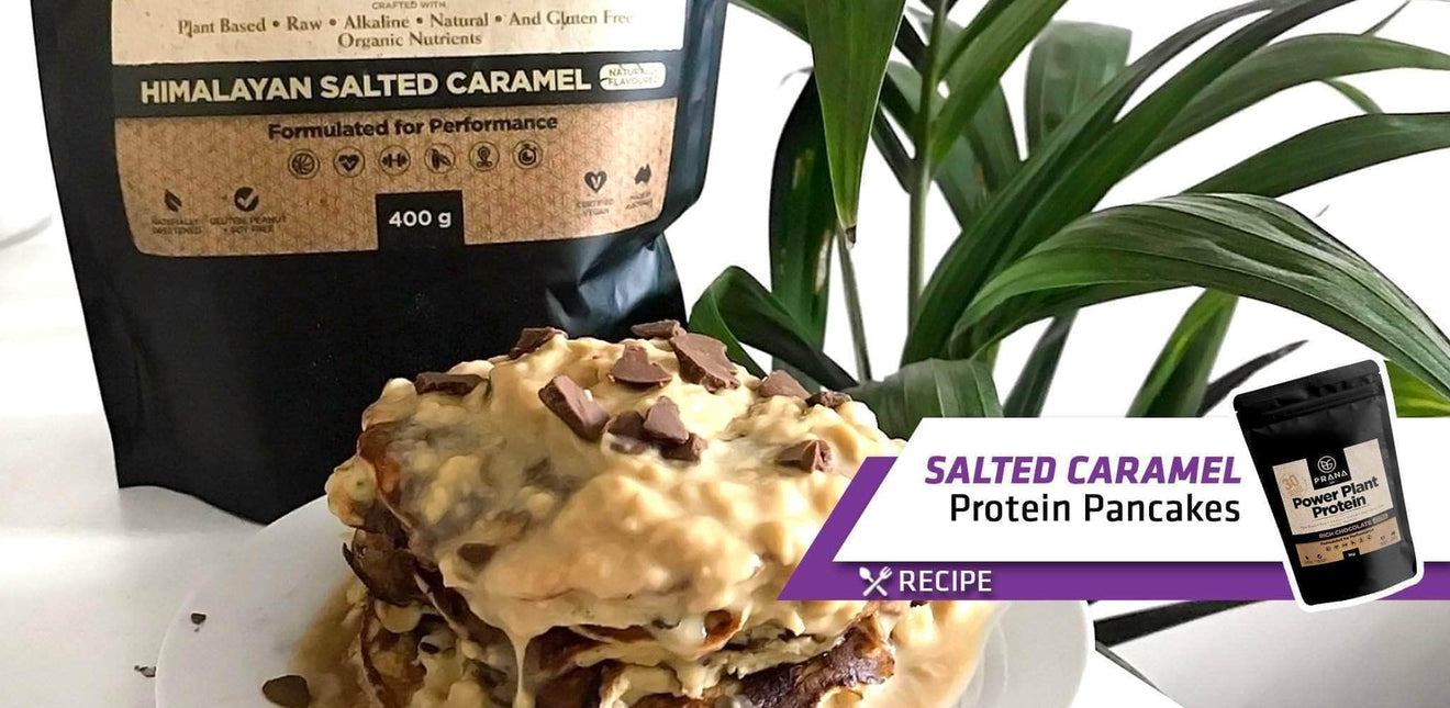 MUST TRY! Guilt-FREE Salted Caramel Protein Pancakes