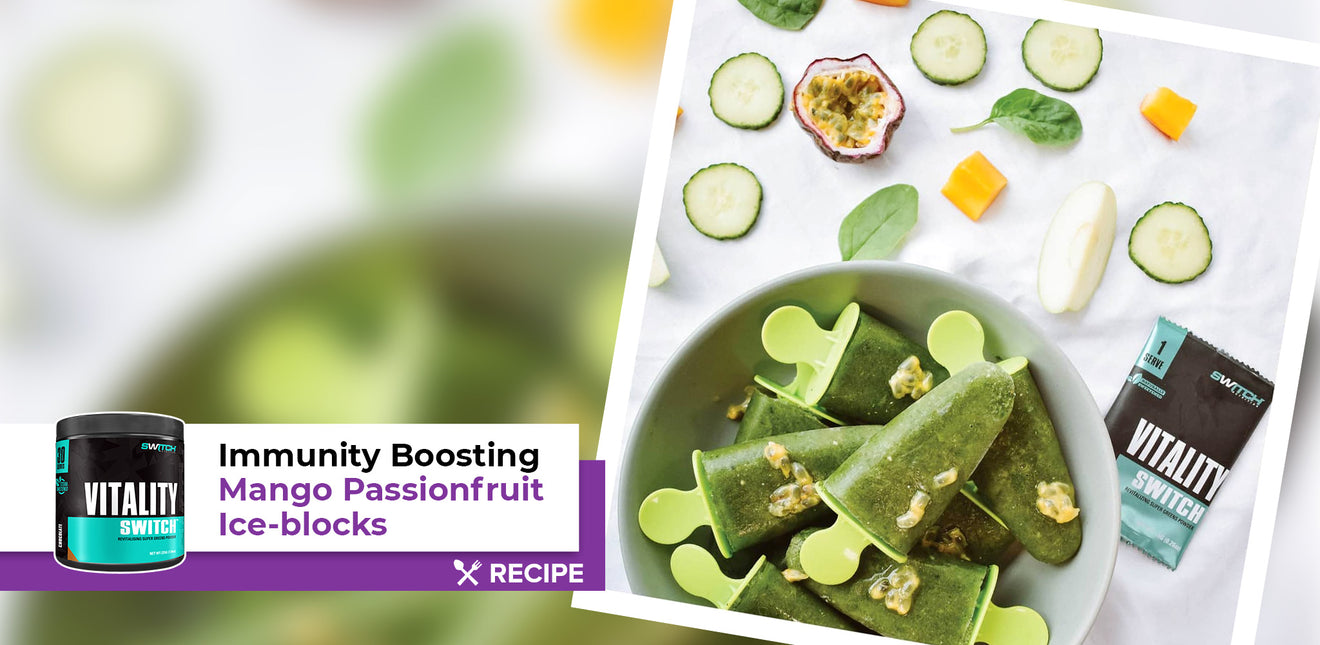 Immunity Boosting Mango Passion Ice-Blocks
