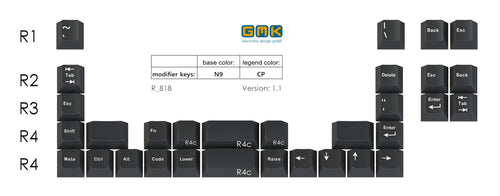 GMK N9 Ortholinear Add-on Kit