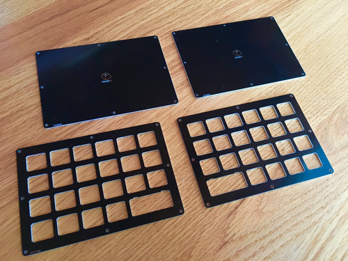 Levinson Keyboard - Case/Plates - Let's Split compatible