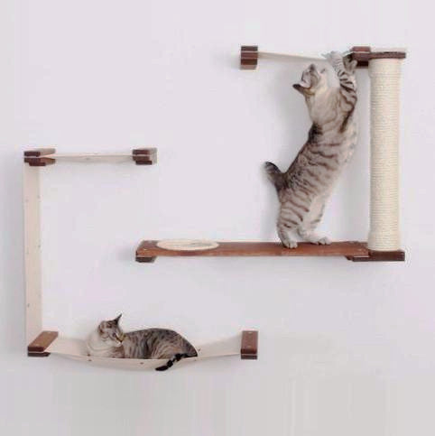 Canvas Cat Maze *Customizable* Activity Play Center With Sisal-Wrapped Scratching Post