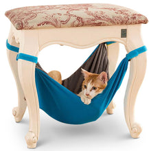 blue velvet velcro cat hammock modern furniture gray under chair