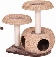 Modern Multi-Level Cat Tree Made of Natural Recycled Paper Rope