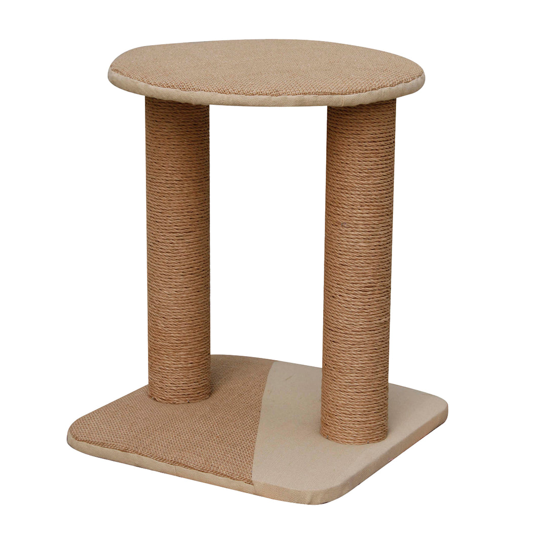 Mini Cat Tree Perch With Natural Recycled Paper Rope Scratching Posts