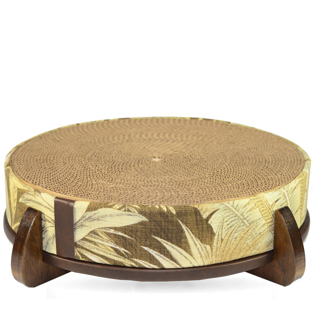 Banana leaf modern round cat scratcherscratching pad mau katz banana leaf modern round cat scratcherscratching pad geotapseo Image collections
