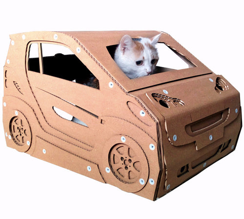 Modern Unique Smart Car Cat House Furniture Cat Cave Bed