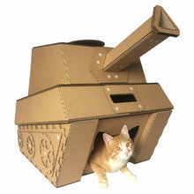 unique modern cat furniture cardboard tank cat cave house