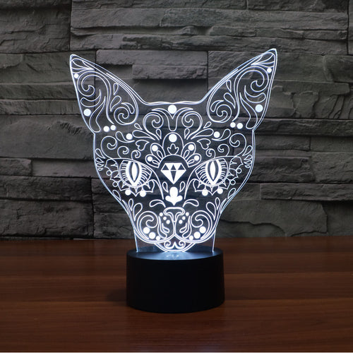 7 Color Changing Cat LED USB Modern Night Light