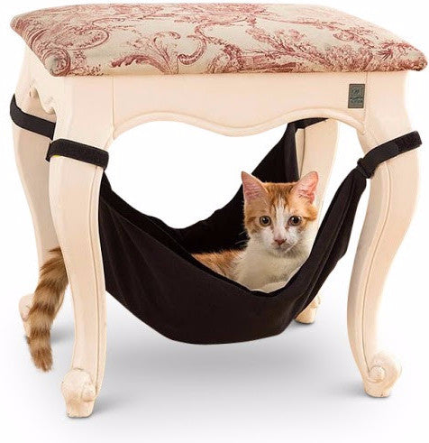 black velcro cat hammock modern furniture gray under chair