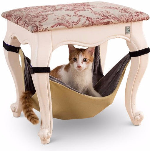 hanging cat hammock bed with velcro straps for under chair or table  u2013 mau katz hanging cat hammock bed with velcro straps for under chair or      rh   maukatz