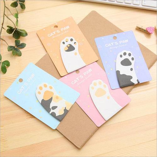 Cute Kitty Cat Paw Sticky Writing Note Pad