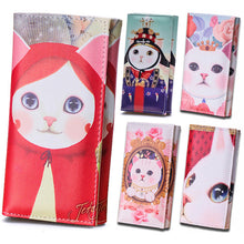 Cute Women's Clutch Cat Art Wallets