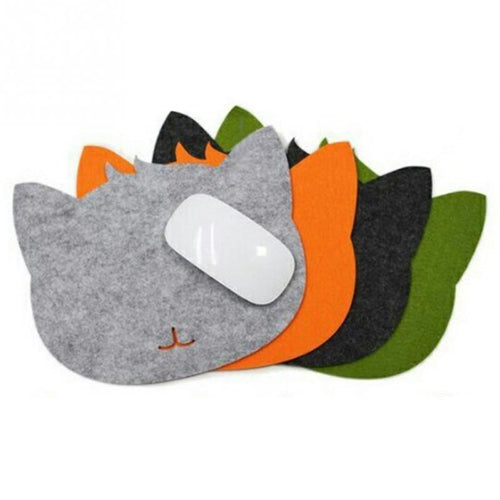 Felt Cat Face Computer Mouse-Pad - Comes in Many Colors