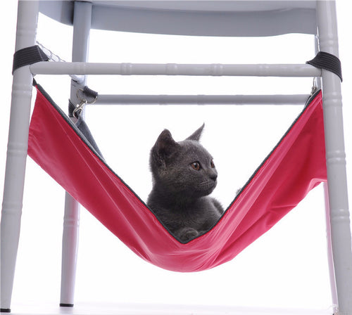 Modern Space Saving Cat Hammock for Under Chairs and Tables - 4 Different Colors