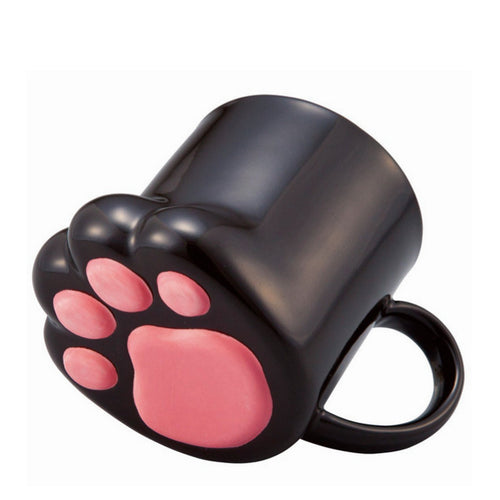 Unique and Creative Cat Paw/Foot Ceramic Coffee Mug - Comes in Black, Calico, or Tiger