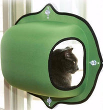 Green Modern Window Cat Bed with Suction Cups