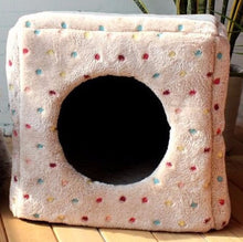 Ultra-Soft and Warm Cat Cave Cube Bed - Comes in Pink, Blue, and Neutral