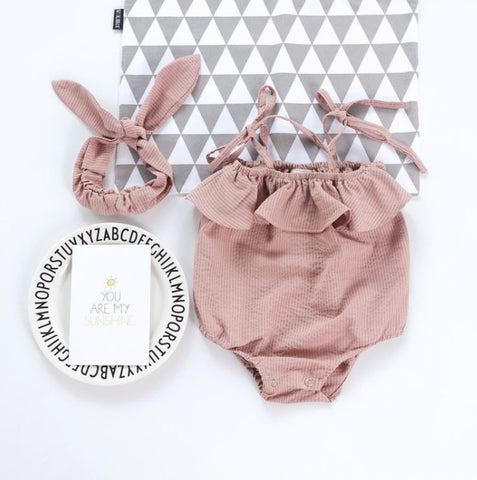 Soft Pink Baby Bubble Romper