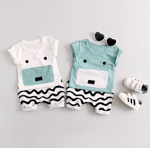 2 Piece Cute Face Summer Set