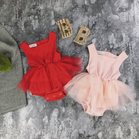 Summer Tutu Ruffle Romper Dress