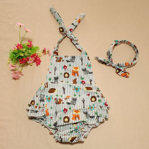 Summer Sleeveless Princess Overall Set