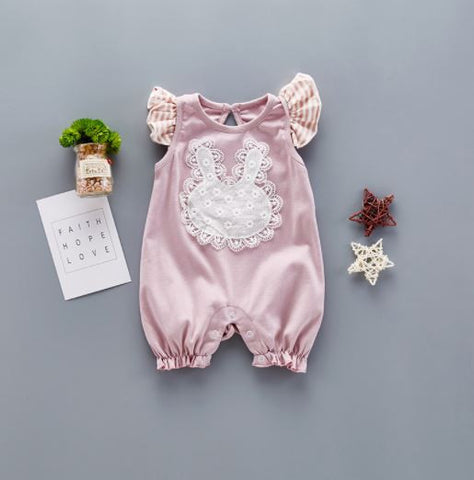 Fly Rabbit Stripped Romper