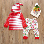 Little Striped Red Christmas Set