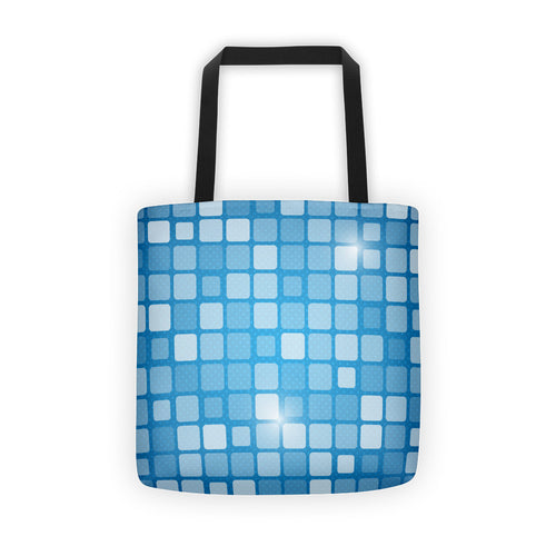 Checkered Blue - Tote bag