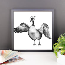 Mrs. Feathers - Framed photo paper poster