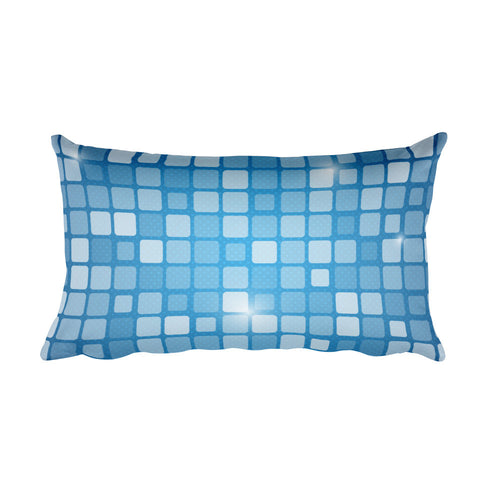 Checkered Blue - Rectangular Pillow