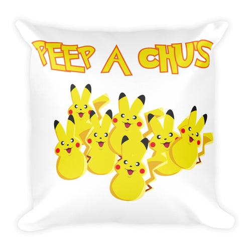 Peep A Chu's - Square Pillow