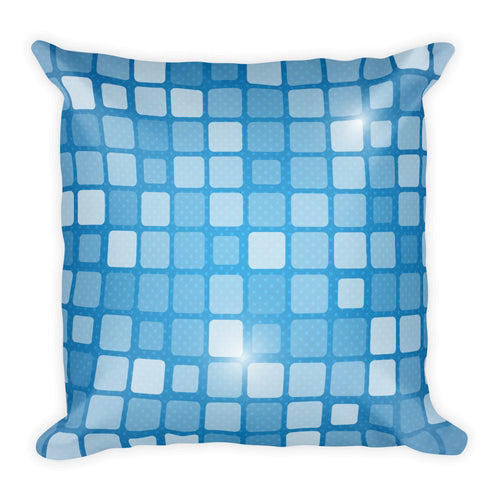 Checkered Blue - Square Pillow