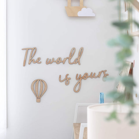 The world is yours wall script