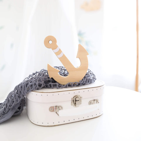 Boys Room Nursery Decor Anchor Shelf Figure