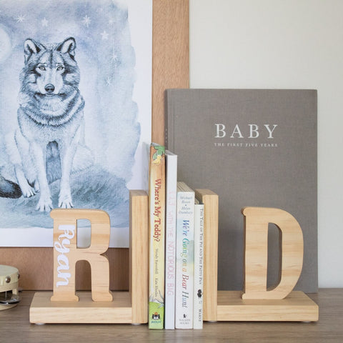 Scandi Letter Bookends One Letter Personalised