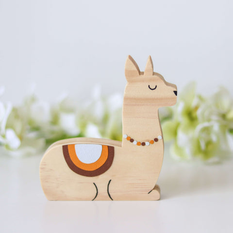 Scandi Llama Shelf Figure