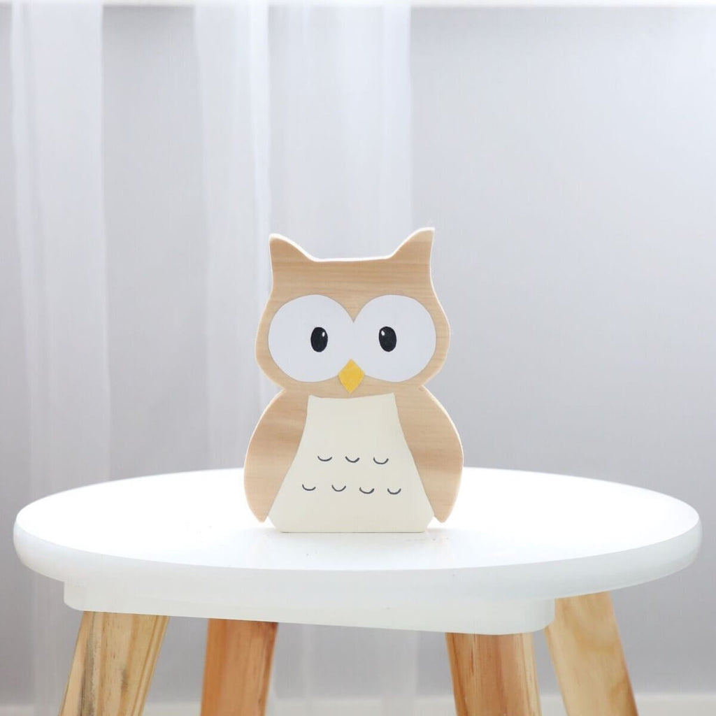 Woodland Decor Owl Shelf Figure