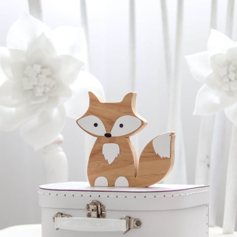 Woodland Nursery Decor Scandi Fox Shelf Figure