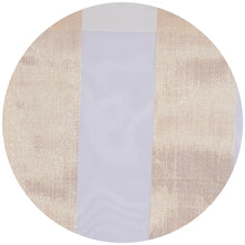 Thick Stripe Metallic Sheer